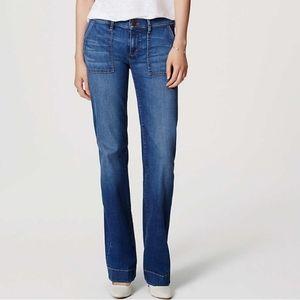 Wide Leg Trouser Jeans In Bright Indigo Wash